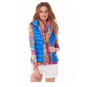 Lilly Pulitzer Allie Blue Puffer Packable Vest XXS